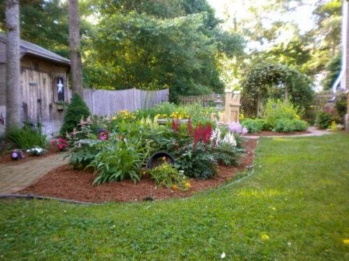 Backside of garden facing the entrance.